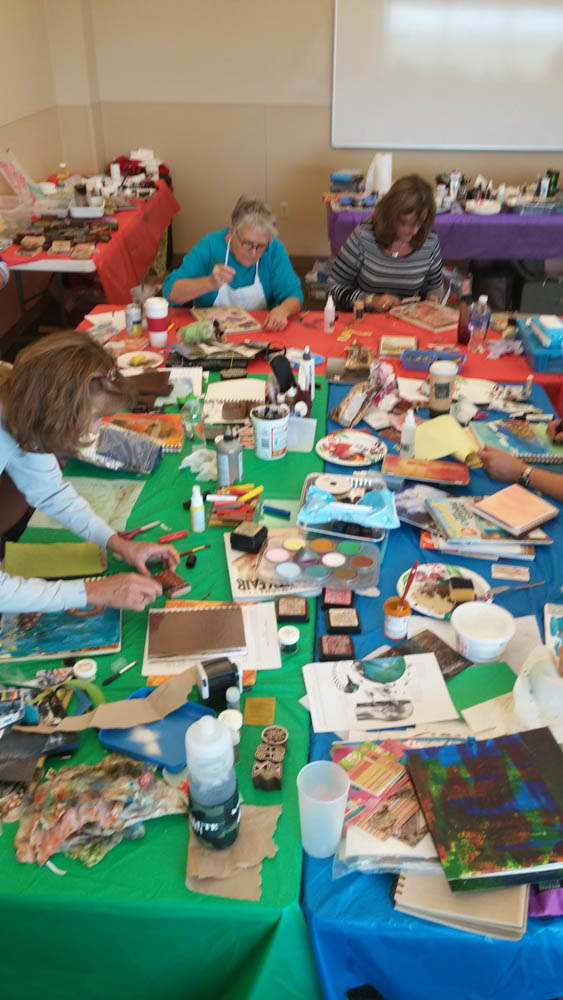 Visual journaling with rocky mountain creative quilters-3