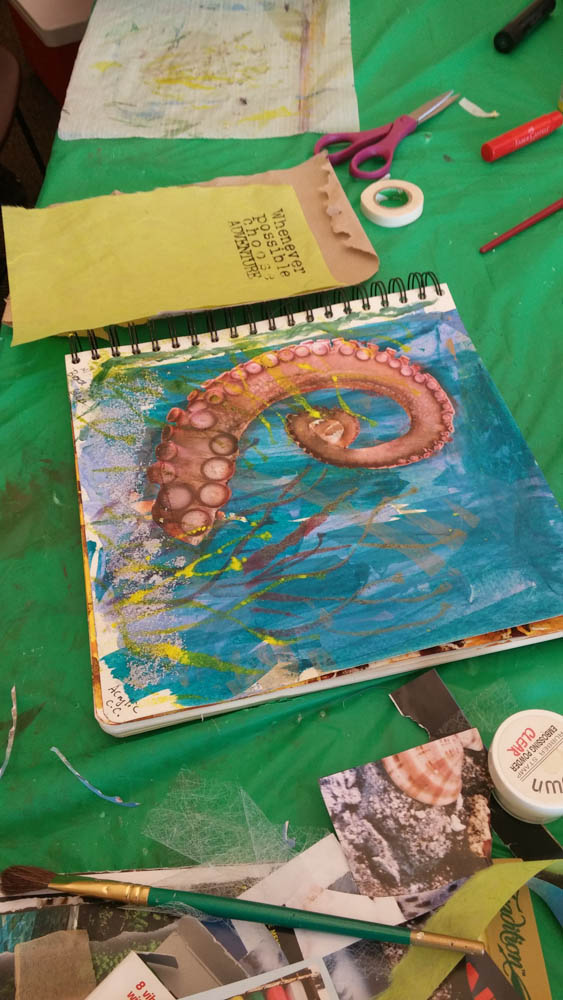 Visual journaling with rocky mountain creative quilters-4
