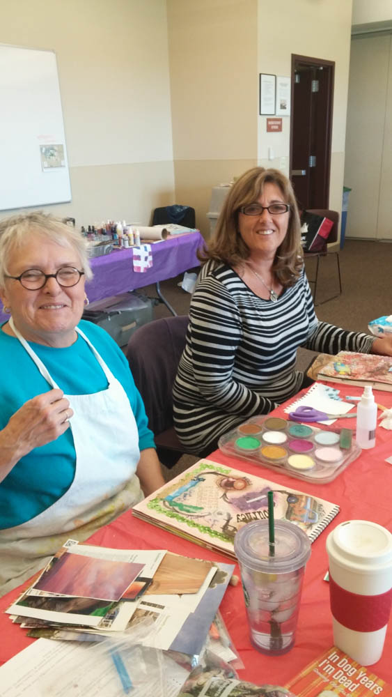 Visual journaling with rocky mountain creative quilters-7