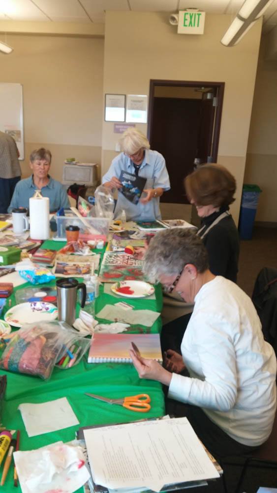 Visual journaling with rocky mountain creative quilters